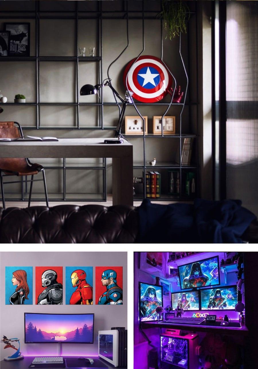 Marvel Themed Gaming Room