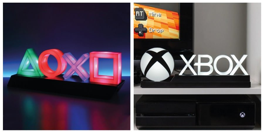 Xbox and PlayStation icon light