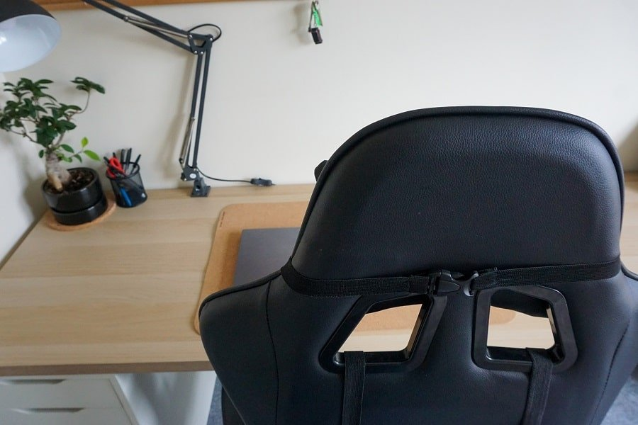 Budget gaming chair backrest